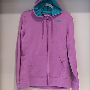 The North Face purple w/teal zip up hoodie